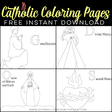 26 free catholic coloring pages small catholic kids
