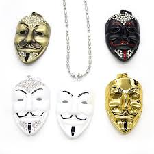 necklace charms wholesale images Wholesale movie jewelry v for vendetta anonymous mask exaggerated jpg