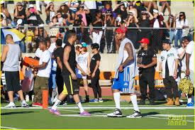 Flag Football Tips Chris Brown Cozies Up To On Again Girlfriend Karrueche Tran At
