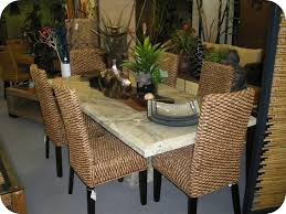 wicker dining table with glass top furniture glass top dining table by seagrass with chair marble for