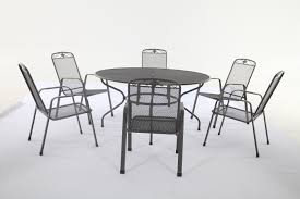 Metal Garden Table And Chairs Uk Royal Garden Savoy 6 Seater Round Table Set