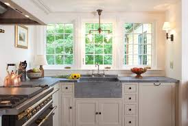 Kitchen With Farm Sink - picking the right sink for your kitchen remodel haskell u0027s blog