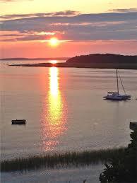 best sunset in wellfleet from deck wellfleet cape cod vacation