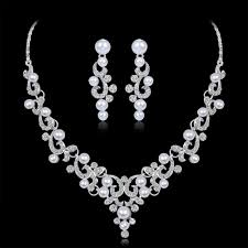 bridal jewelry necklace earrings images Wedding jewelry sets fashion crystal bridal jewelry set for women jpg