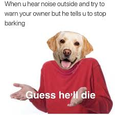 Dog Barking Meme - dopl3r com memes when u hear noise outside and try to warn your