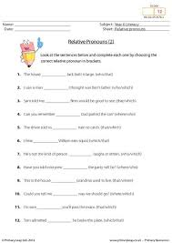 relative pronouns worksheet 4th grade free worksheets library