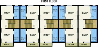 Row Houses Floor Plans Extremely Creative 13 Layout Plan For Row House House Plans In 800