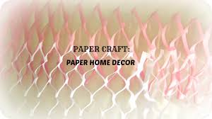 paper craft how to make paper wall home decor in 5 mins easy