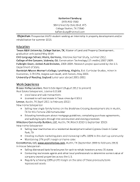 College Intern Resume Sample Resume Objective For College Student Httpwww How To Write A