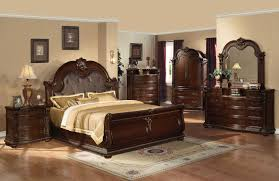 Mission Style Bedroom Furniture Cherry Constructed With Great Detailed Carvings And Finished In A