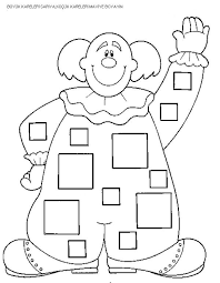 square worksheets for preschool trace and color crafts and