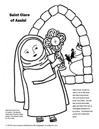 saint clare of assisi coloring page u2013 immaculate heart coloring pages