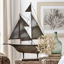 decorative objects wayfair metal sailboat decor loversiq