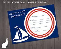 free baby shower invitation u2013 ahoy it u0027s a boy free party