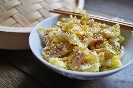 cuisiner un chou chinois salade de chou chinois au poulet et au sésame