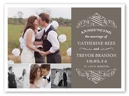wedding announcement cards wedding announcement cards cloveranddot