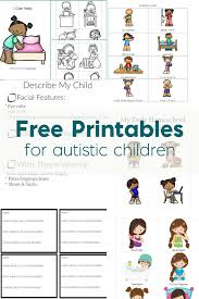 Resources Free Printable Worksheets Free Printables For Autistic Children And Their Families Or