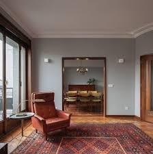 1940s interior design atelier in vitro creates retro interiors for three apartments in