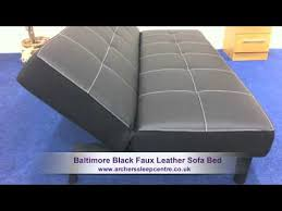 Oregon Sofa Bed Baltimore Black Faux Leather Sofa Bed