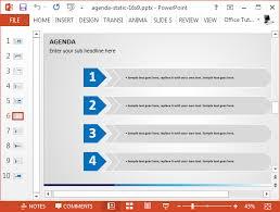 best agenda slide templates for powerpoint