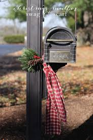 diy mailbox swag scarf decor