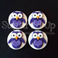 owl cake toppers www sugareduptoppers owl fondant cupcake toppers by sugared up