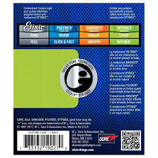 Light Guitar Strings by Elixir Optiweb Coated Electric Guitar Strings 9 46 At Gear4music Com
