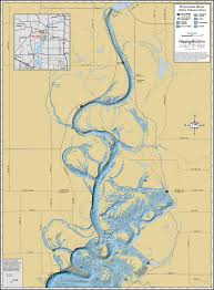 Wisconsin Maps by Wisconsin River Below Nekoosa Dam Wall Map