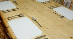 premium glass placemat place mats 4 set dining table tablemats