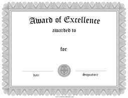 Free Certificate Of Excellence Template Free Customizable Certificate Of Achievement