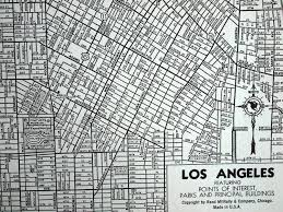 Map Of Los Angeles California by 1944 Vintage Map Of Los Angeles California By Bananastrudel 255