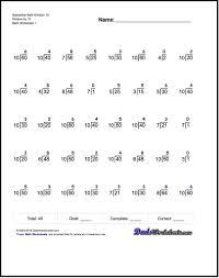 math division worksheet worksheets