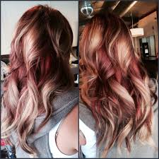 Red Blonde Hair Extensions by Rose Gold Hair Custom Warm Red U0026 Copper Hair Color And Sew In