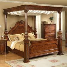 full size canopy bed frame bedroom birch log canopy bed stauffer