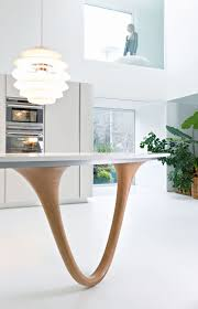 table cuisine design contemporary kitchen wooden island lacquered ola 20 by