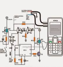 cell phone call alert security system circuit electronic circuit