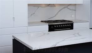 Marble Top Kitchen Work Table by Nsf Sgs Quality Manufacturer Bianco Calacatta Marble Look White