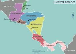map of central and south america with country names central america travel guide at wikivoyage