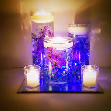 Floating Candle Centerpieces by Wedding Centerpiece Floating Candle Centerpiece Purple