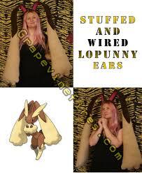 halloween fleece lopunny fleece cosplay pokemon by hatcorehats deviantart com on