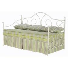 white metal daybed with link spring b10198