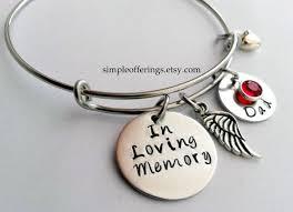 memorial bracelets for loved ones memorial bracelet in memory of husband remembrance