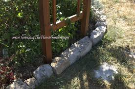 Bush Rock Garden Edging by Stone Borders And A Sitting Wall Growing The Home Garden
