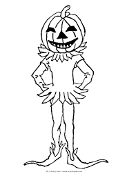 Halloween Pumpkin Coloring Page Otroci My Coloring Land