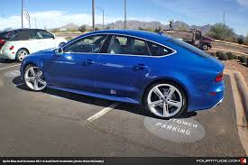 audi exclusive sprint blue rs 7 spotted at audi north scottsdale