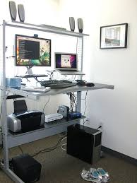 Industrial Looking Desk by Seriously Considering A Standing Desk Maybe A Little Less