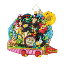 50th anniversary ornaments christopher radko ornaments beatles yellow submarine 50th