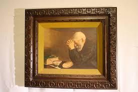 home interior framed vtg eric enstrom praying grace daily bread framed picture