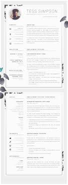 resume modern fonts exles of personification for kids cv design resume design cv resume matching cover letter