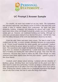 Uc personal statement prompt        sludgeport    web fc  com UC Essay Prompt    Take the Challenge